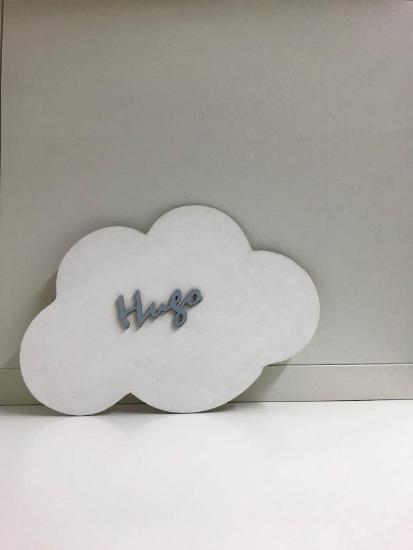 Nube de madera con nombre